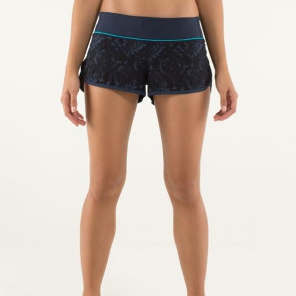 lululemon athletica Pants - Lululemon Speed Shorts 4-way Baroque Inkwell